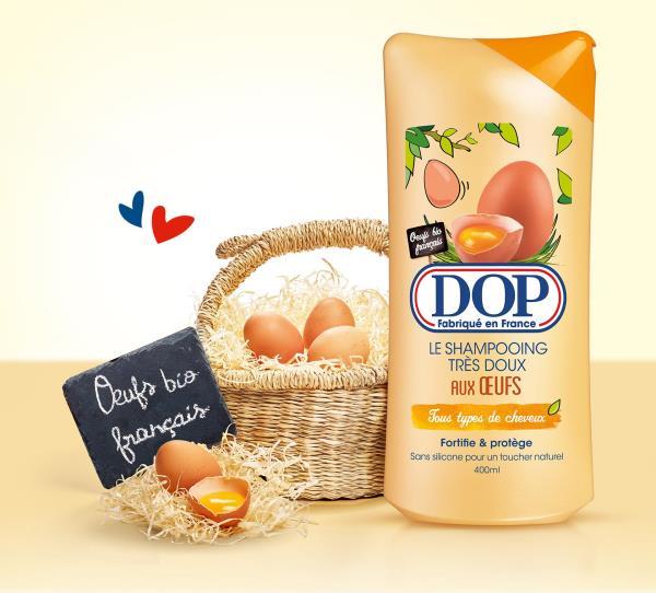 push catégoriel shampoing dop œuf