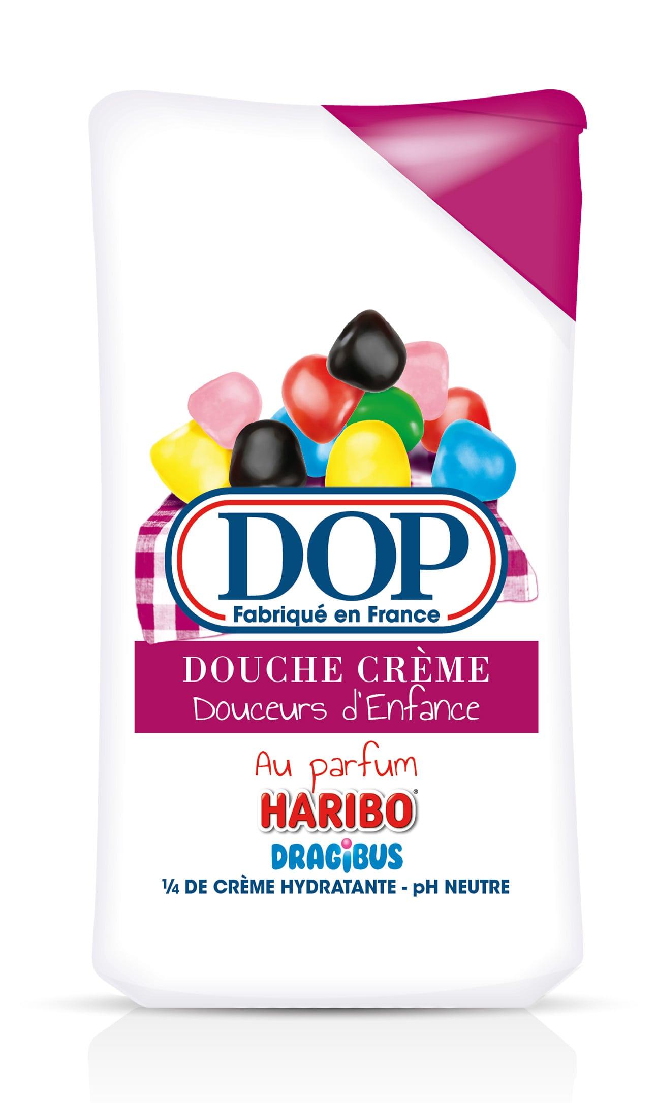face avant gel douche dop bonbon dragibus